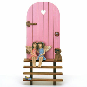 Fairy Door and Steps - Pink
