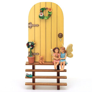 Fairy Door and Steps - Yellow