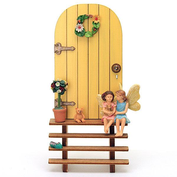 Fairy Door and Steps - Yellow