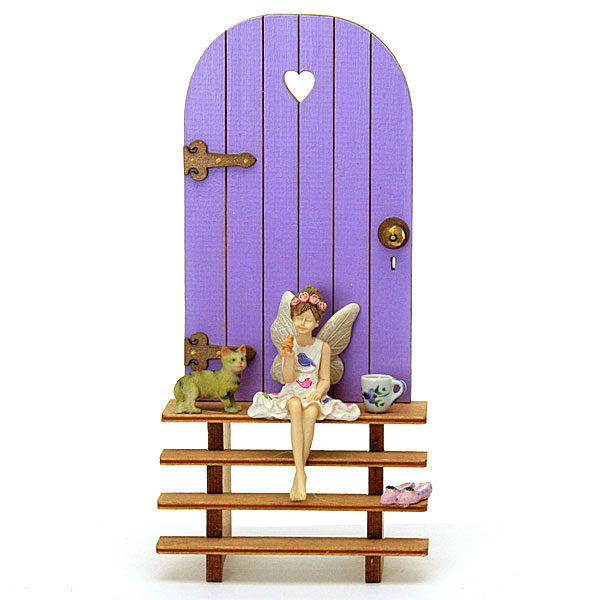 Fairy Door and Steps - Lilac