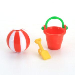 bucket, spade, beach ball