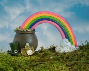 Rainbow and pot of gold