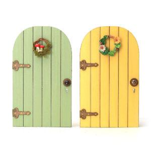 Fairy Door with Wreath
