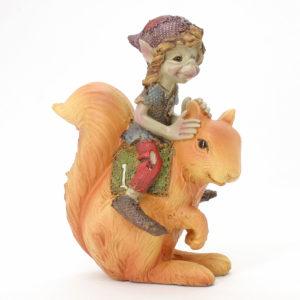 Pixie on Squirrel