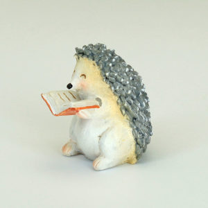 hedgehog with book