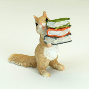 Squirrel and books