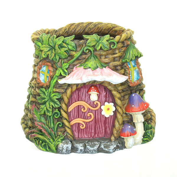 Fairy Garden Planter with Pink Canopy