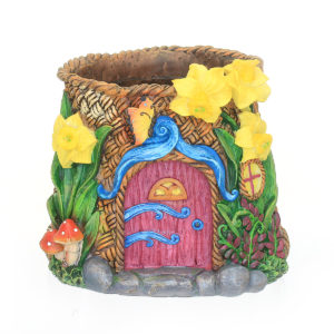 Fairy Garden Planter with Daffodil Detail