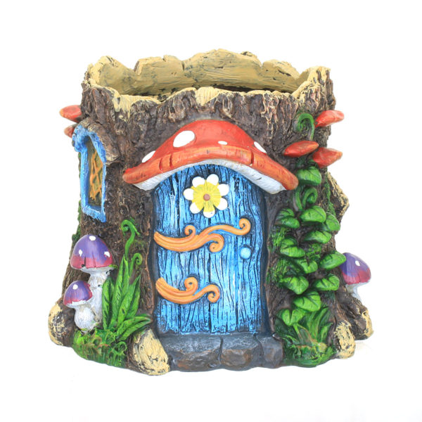 Fairy Garden Planter with Mushroom Canopy