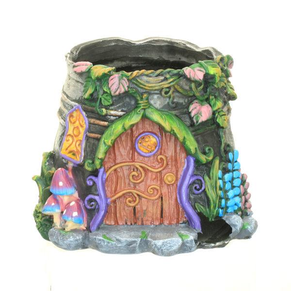 Fairy Garden Planter Tin Bucket Effect