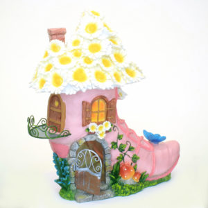 Pink Boot Fairy House