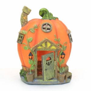 Pumpkin Fairy House with Solar Lights