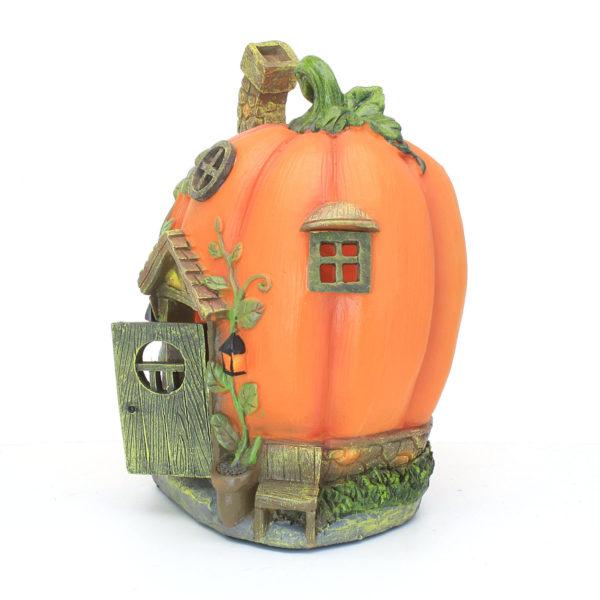 Pumpkin Fairy House with Solar Lights