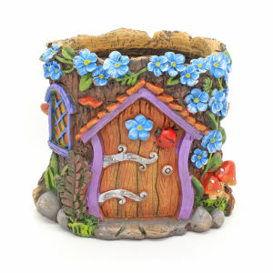 Fairy Garden Planter with Forget Me Not Flowers