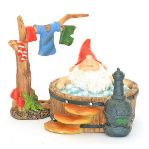 Bathing Gnome & Clothes Line