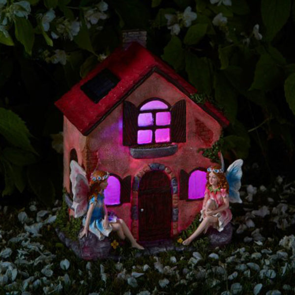 Fairy House with Solar Lights