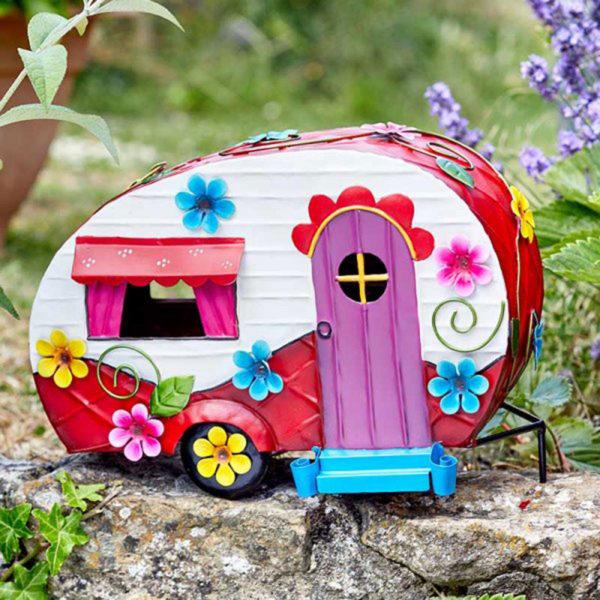 Flower Power Caravan Fairy House