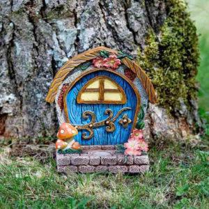Blue Fairy Door & Step