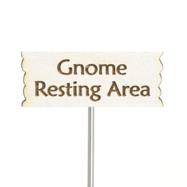 Gnome Resting Sign
