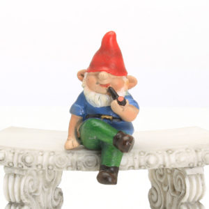 Tiny Sitting Gnome