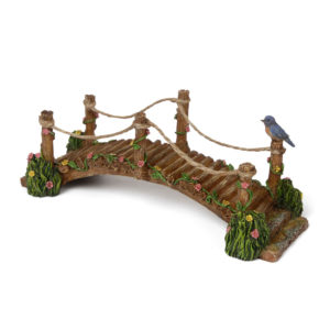 wooden & rope bridge with Blue Bird