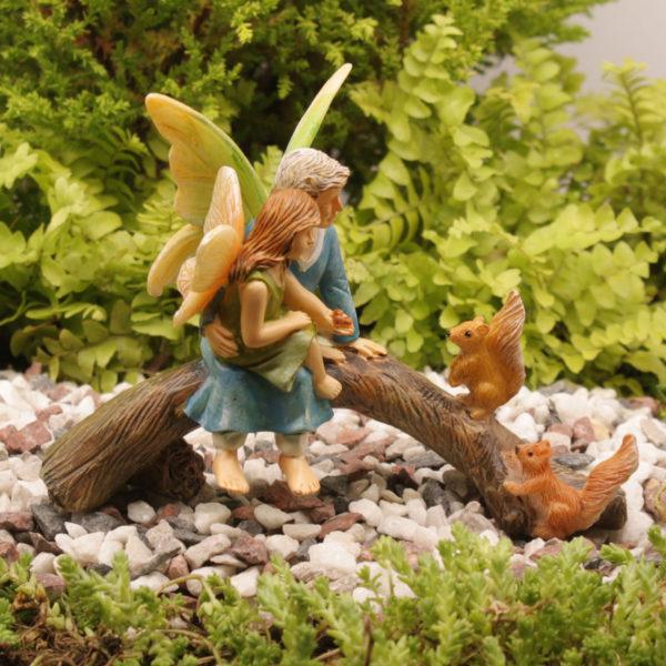 feeding the squirrels with grandma